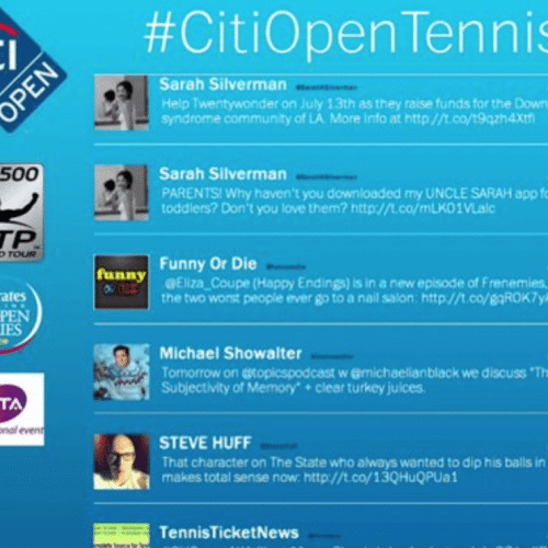 Citi Open Social Wall